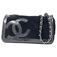 CHANEL COCO mark chain shoulder  Womens shoulder bag black x silver hardware