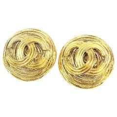 CHANEL coco mark circle vintage GP Womens earrings