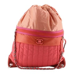 Chanel Coco Neige Convertible Backpack Vertical Quilted Nylon Large
