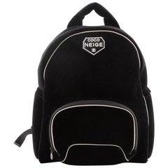 Chanel Coco Neige Front Pocket Backpack Quilted Velvet