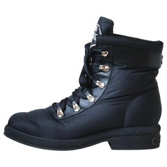 Chanel Coco Neige Nylon and Leather Snow Boots