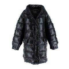 Chanel Coco Neige Quilted Goose Down Black Jacket US 8