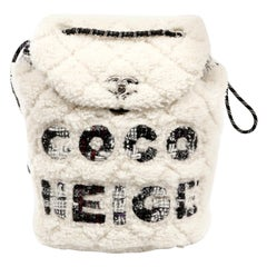 Chanel COCO Neige Shearling Mini Backpack