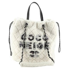 Chanel  Coco Neige Shopping Tote Quilted Shearling Large