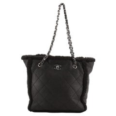 Chanel Coco Neige Shopping Tote Quilted Shearling Medium