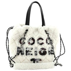 Chanel Coco Neige Shopping Tote Quilted Shearling Small