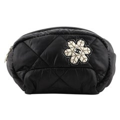 Chanel Coco Neige Waist Bag Quilted Nylon with Applique