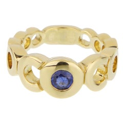 Chanel Coco Openwork Sapphire Yellow Gold Ring
