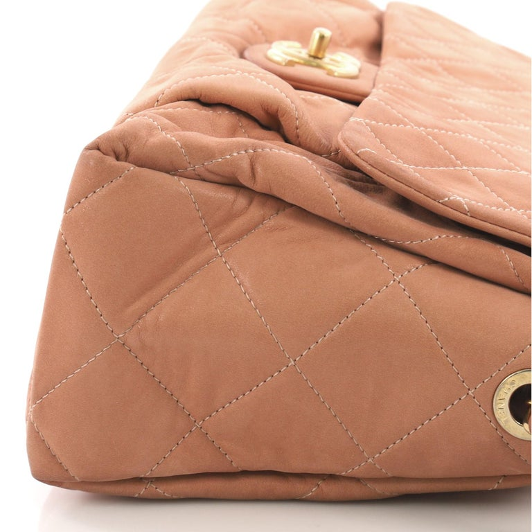 24749f0f6bdd18 Chanel Coco Pleats Flap Bag Quilted Iridescent Calfskin Maxi For Sale 2