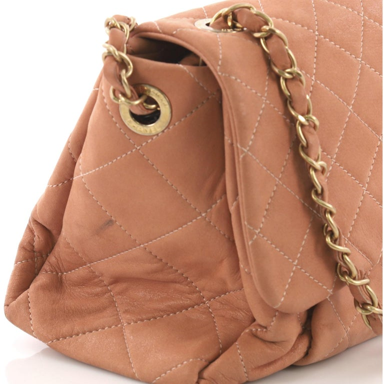 7349ad880237c4 Chanel Coco Pleats Flap Bag Quilted Iridescent Calfskin Maxi For Sale 4