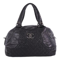 Chanel Coco Rider Bowler Bag Quilted Aged Calfskin Large