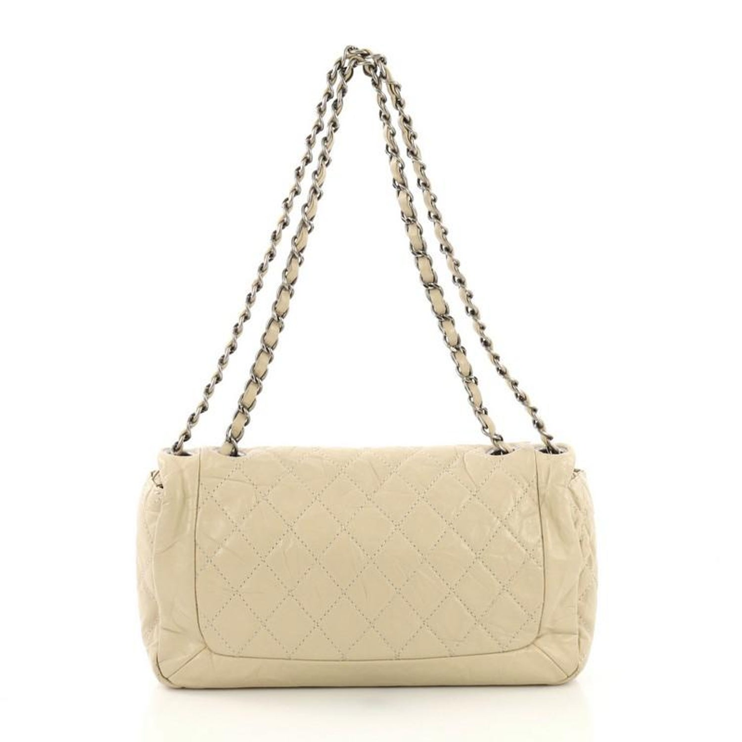 003408b1148d60 Chanel Coco Rider Flap Bag Quilted Aged Calfskin Medium For Sale at 1stdibs