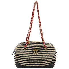 Chanel Coco Sailor Camera Bag Quilted Jersey and Lambskin Medium