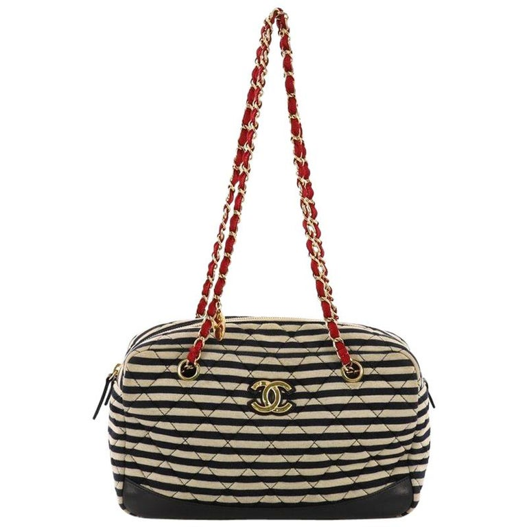 367126dd3748 Chanel Coco Sailor Camera Bag Quilted Jersey and Lambskin Medium For Sale