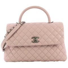 Chanel Coco Top Handle Bag Quilted Caviar Medium