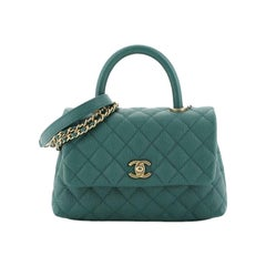 Chanel Coco Top Handle Bag Quilted Caviar Mini