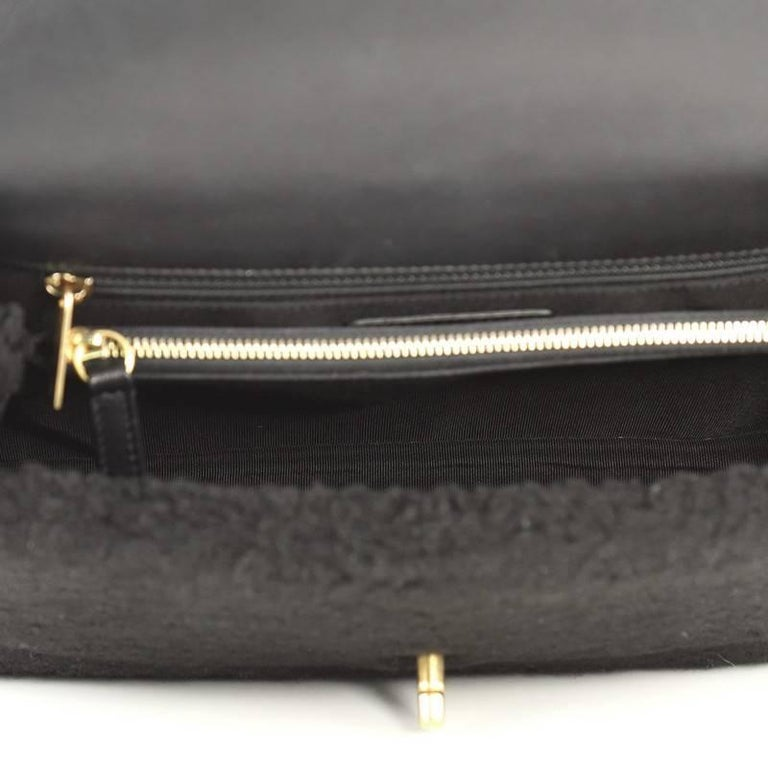 876103f26c0f Chanel Coco Top Handle Bag Shearling Medium For Sale 1