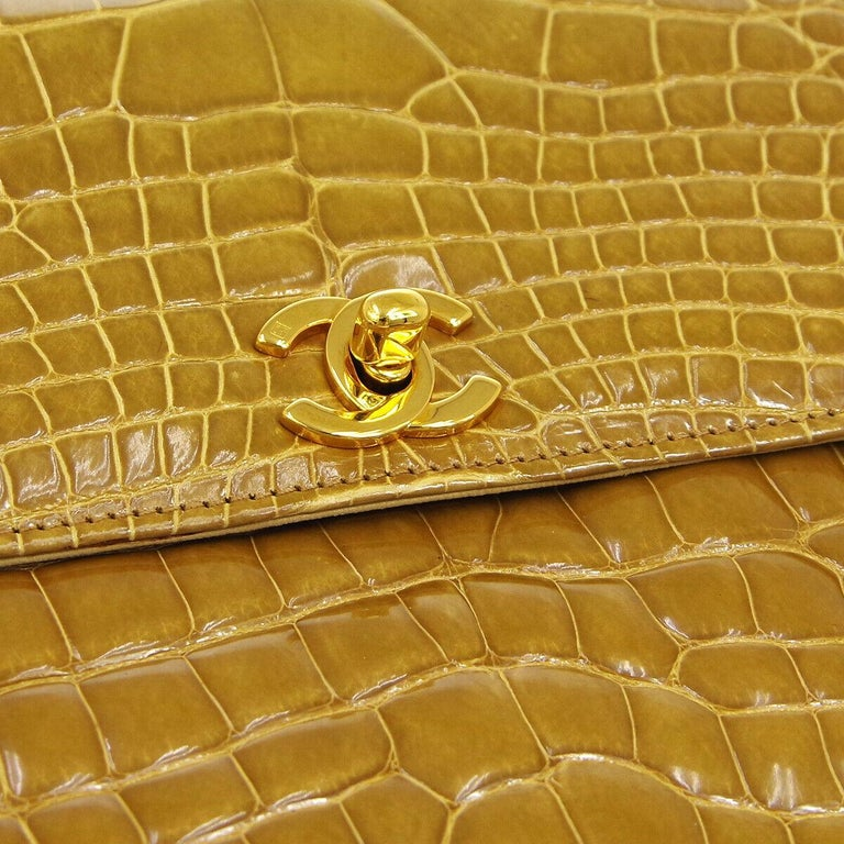 The Exotic Chanel to Complete Your Collection.  Since announcing the discontinuation of exotic skin handbags, the demand for exotic Chanel has increased tenfold.  And the demand for crocodile skin Chanel is no exception.   Crafted of exotic