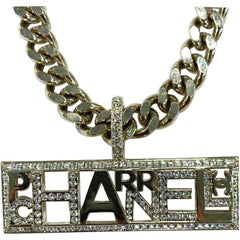Chanel Collector Rhinestone And Chain Necklace Designed By Pharrell Williams