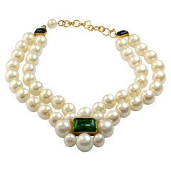 CHANEL collier with pearls and Gripoix signed 97A - 1997 Autumn