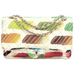 Chanel Colorama Flap Bag Quilted Watercolor Canvas Jumbo