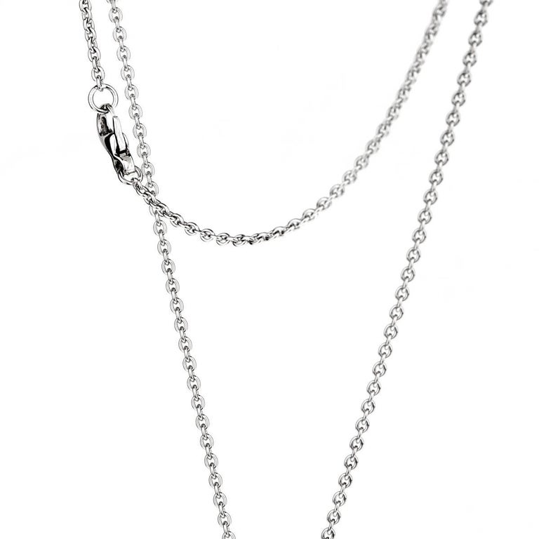 Chanel Comete Ceramic Diamond White Gold Necklace In New Condition For Sale In Feasterville, PA