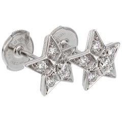 Chanel Comete Diamond White Gold Earrings