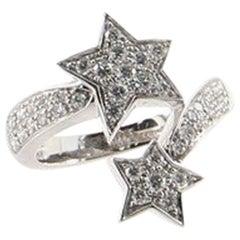 Chanel Comète Ring 18 Karat White Gold and Diamonds