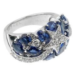 Chanel Comete Sapphire Diamond White Gold Ring