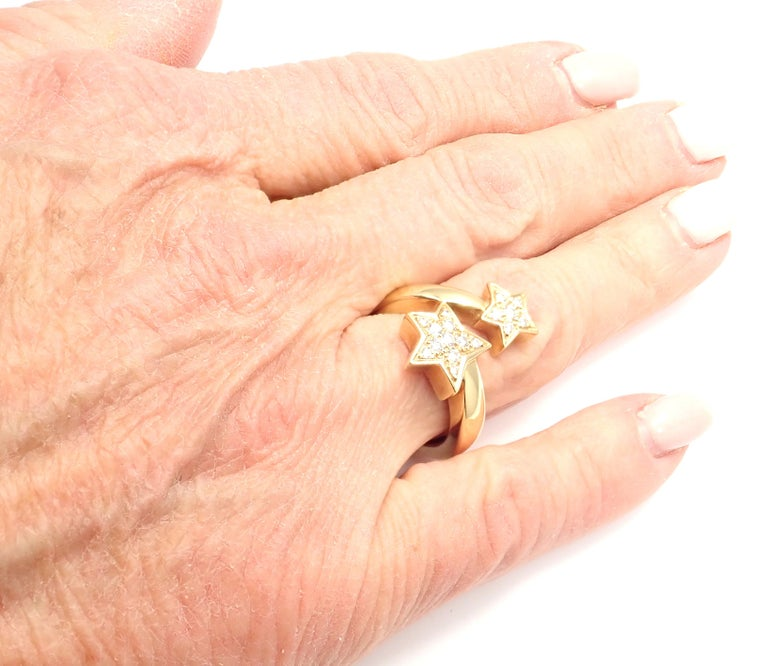 Chanel Comete Star Diamond Gold Cocktail Ring For Sale 6