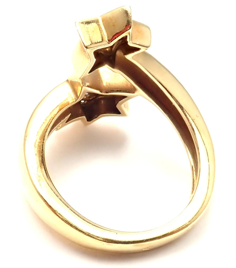 Women's or Men's Chanel Comete Star Diamond Gold Cocktail Ring For Sale