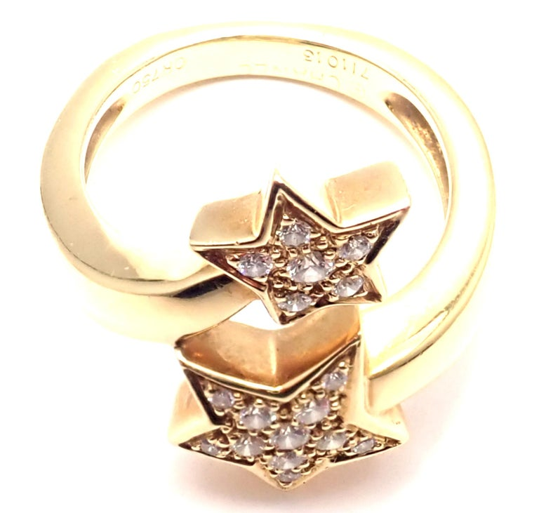 Chanel Comete Star Diamond Gold Cocktail Ring For Sale 2