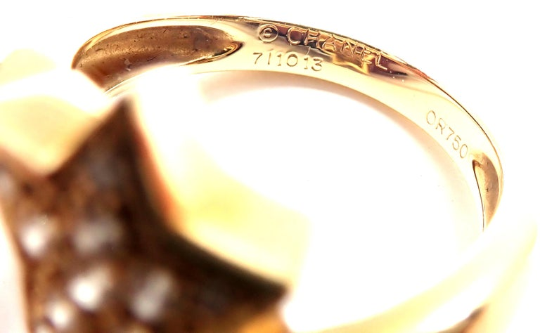 Chanel Comete Star Diamond Gold Cocktail Ring For Sale 3