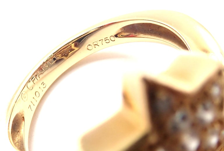 Chanel Comete Star Diamond Gold Cocktail Ring For Sale 4