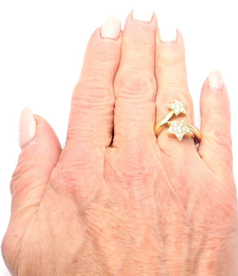 Chanel Comete Star Diamond Gold Cocktail Ring For Sale 5