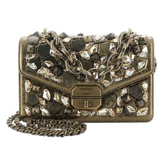Chanel Convertible Gabrielle Flap Bag Embellished Lambskin Small