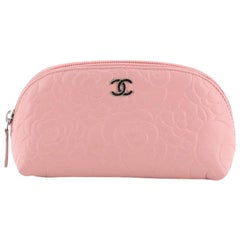 Chanel Cosmetic Case Camellia Lambskin Small