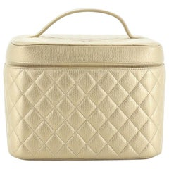 Chanel Cosmetic Case Quilted Calfskin Small