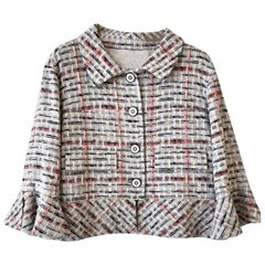 Chanel Cotton Tweed Jacket - Grey Tweed - Excellent condition
