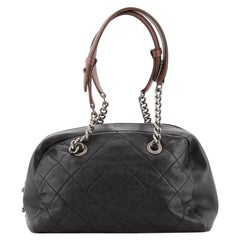 Chanel Country Chic Bowler Quilted Leather Medium
