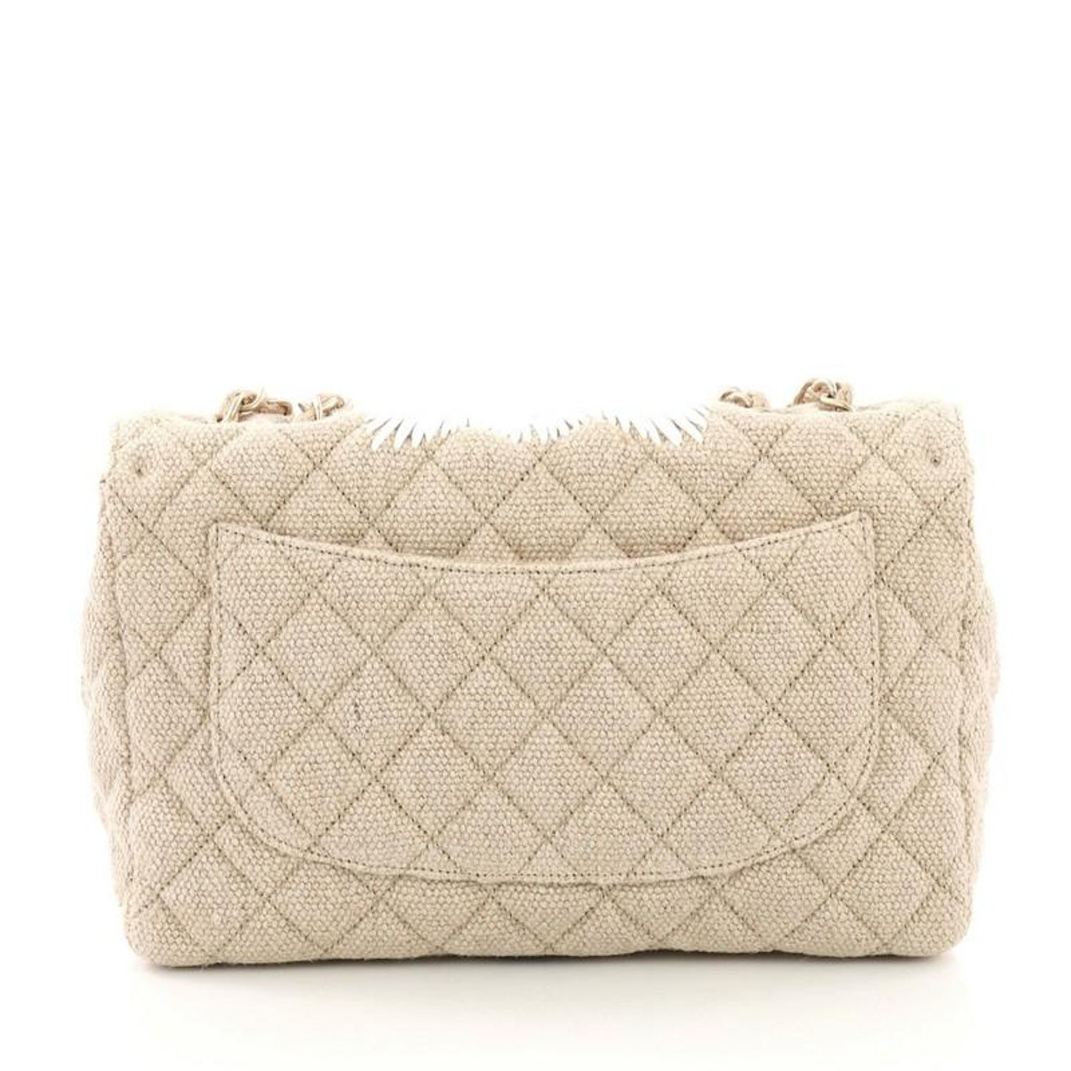 8bb921d85604 Chanel Country Coco Flap Bag Floral Embroidered Quilted Raffia Jumbo at  1stdibs