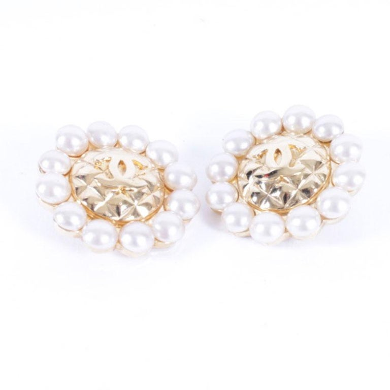 Chanel Couture Clip-on Earrings In Good Condition For Sale In Paris, FR