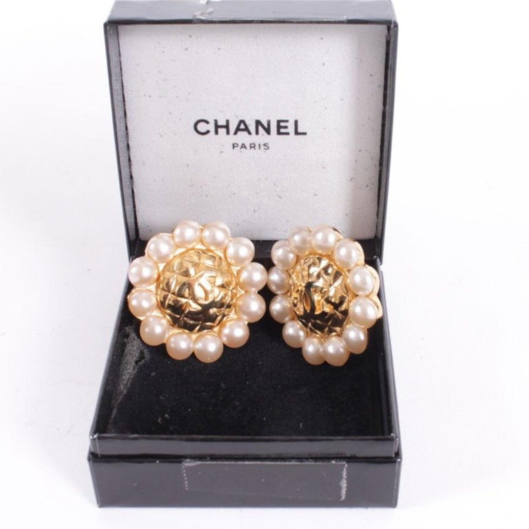 Chanel Couture Clip-on Earrings For Sale 1