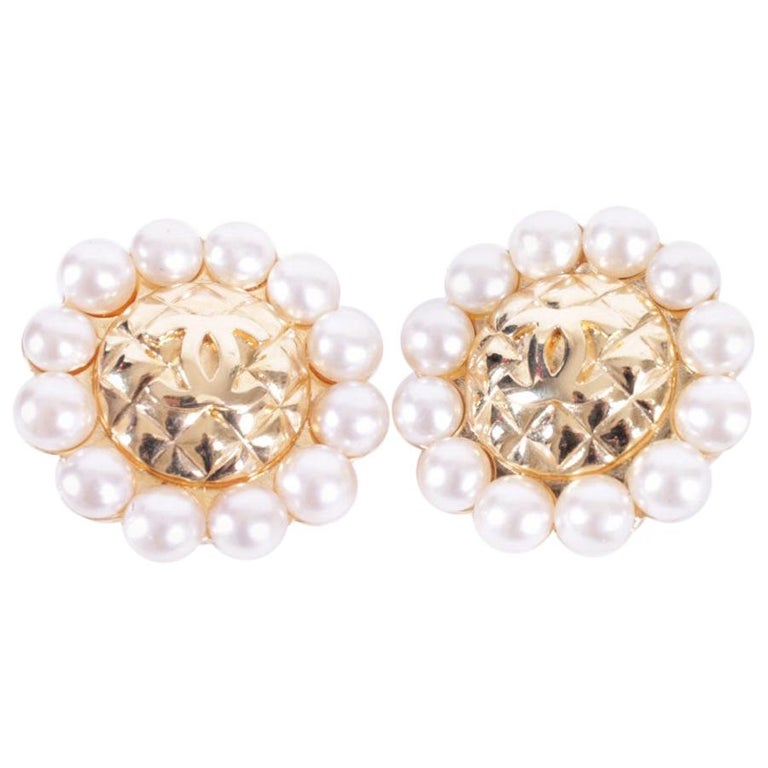 Chanel Couture Clip-on Earrings For Sale