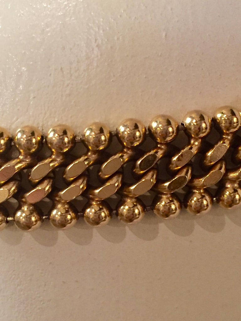 Chanel Couture Gripoix Buckle and Gold Chain Belt In Excellent Condition For Sale In New Hope, PA