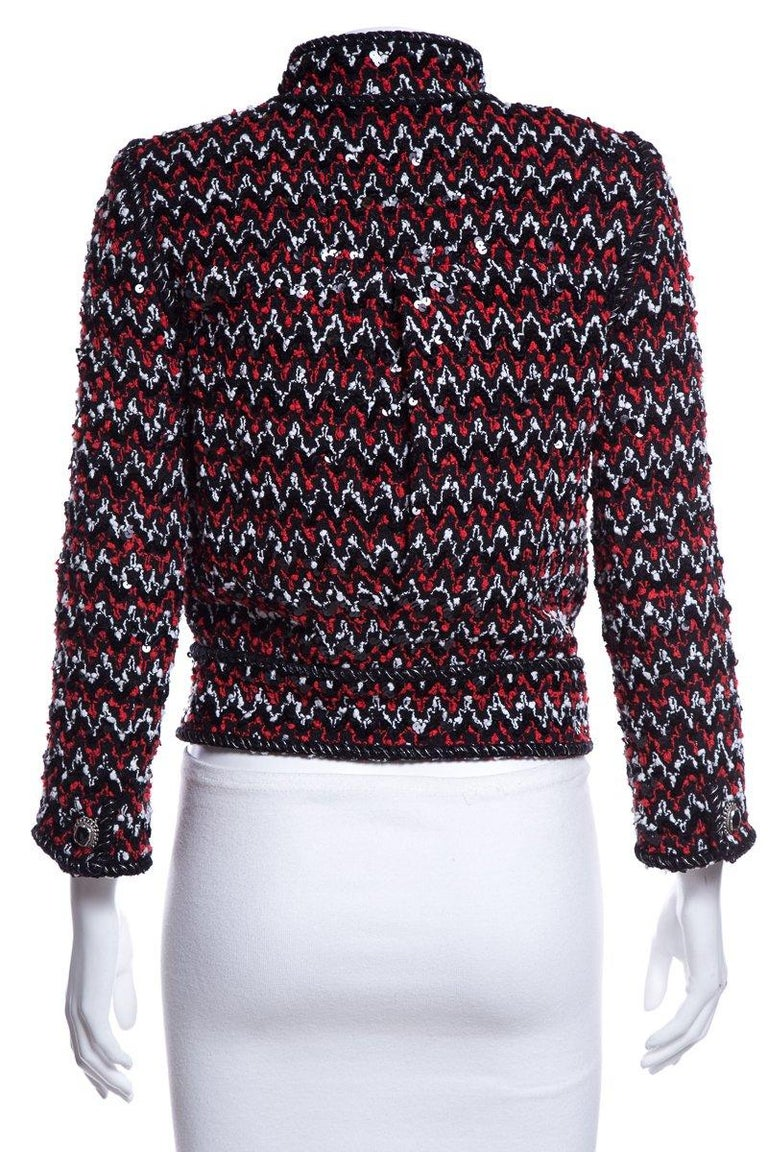 CHANEL  Couture Multicolor Tweed Jacket SZ 36 In Excellent Condition For Sale In Scottsdale, AZ