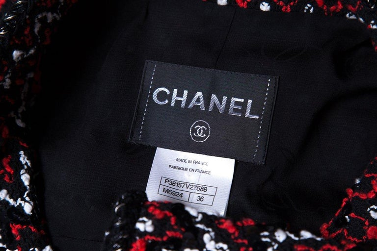 CHANEL  Couture Multicolor Tweed Jacket SZ 36 For Sale 1