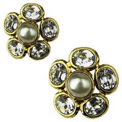 CHANEL Couture Vintage Clip-On Earrings