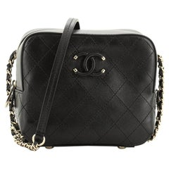 Chanel Covered CC Camera Bag Stitched Calfskin
