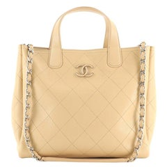 Chanel Covered CC Shopping Tote Stitched Caviar Medium